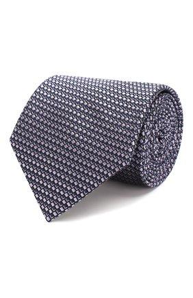 Мужской шелковый галстук BRIONI сиреневого цвета, арт. 062H00/P9458 | Фото 1