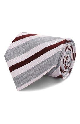 Мужской шелковый галстук BRIONI сиреневого цвета, арт. 062H00/P9479 | Фото 1