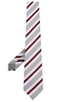 Мужской шелковый галстук BRIONI сиреневого цвета, арт. 062H00/P9479 | Фото 2