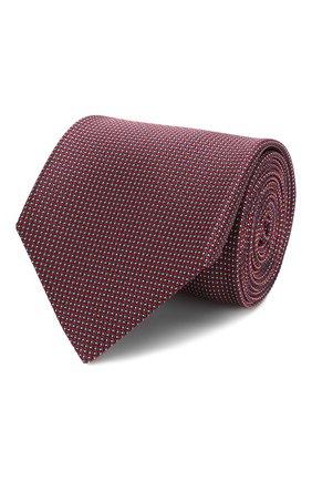 Мужской шелковый галстук BRIONI красного цвета, арт. 062H00/P9486 | Фото 1