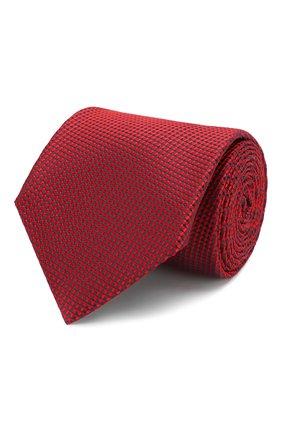 Мужской шелковый галстук BRIONI красного цвета, арт. 062H00/P9487 | Фото 1
