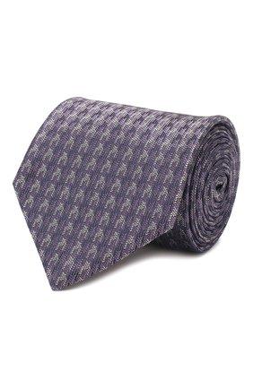Мужской шелковый галстук BRIONI фиолетового цвета, арт. 062I00/P9480 | Фото 1