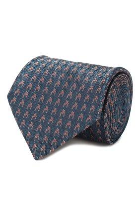 Мужской шелковый галстук BRIONI бирюзового цвета, арт. 062I00/P9480 | Фото 1