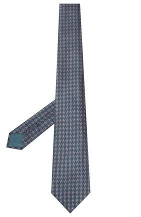 Мужской шелковый галстук BRIONI бирюзового цвета, арт. 062I00/P9480 | Фото 2