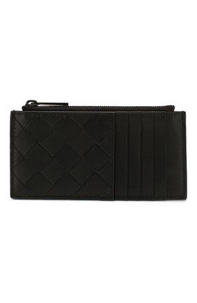 Мужской кожаный футляр для кредитных карт BOTTEGA VENETA черного цвета, арт. 591379/VCPQ3 | Фото 1
