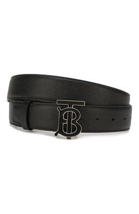 Мужской кожаный ремень BURBERRY черного цвета, арт. 8024167 | Фото 1