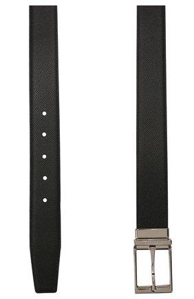 Мужской двусторонний кожаный ремень BURBERRY черного цвета, арт. 8024166 | Фото 2
