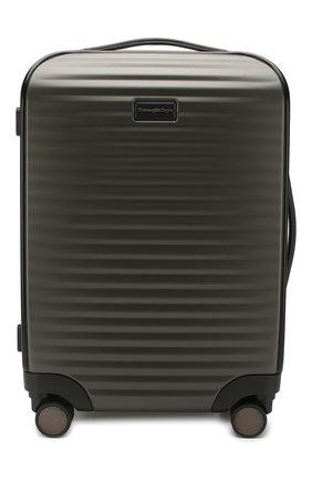 Мужской дорожный чемодан ERMENEGILDO ZEGNA темно-серого цвета, арт. C1375X-LHP0C | Фото 1