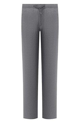 Мужской льняные брюки BRIONI серого цвета, арт. RPMJ0M/P6114/NEW JAMAICA | Фото 1