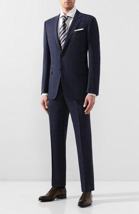 Мужской шерстяной костюм ERMENEGILDO ZEGNA темно-синего цвета, арт. 722587/221225 | Фото 1