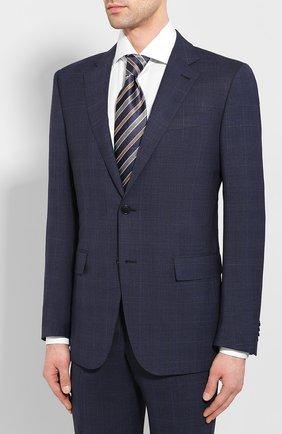 Мужской шерстяной костюм ERMENEGILDO ZEGNA темно-синего цвета, арт. 722587/221225 | Фото 2
