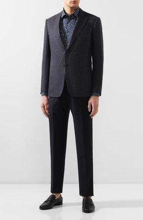 Мужская хлопковая сорочка VAN LAACK темно-синего цвета, арт. TET2-TF08/171603 | Фото 2