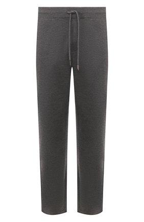 Мужские брюки из смеси шерсти и шелка ERMENEGILDO ZEGNA серого цвета, арт. UU552/TR0R | Фото 1