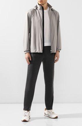 Мужские брюки из смеси шерсти и шелка ERMENEGILDO ZEGNA серого цвета, арт. UU552/TR0R | Фото 2