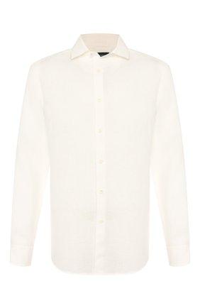 Мужская льняная рубашка ERMENEGILDO ZEGNA белого цвета, арт. UUX38/SRF5 | Фото 1