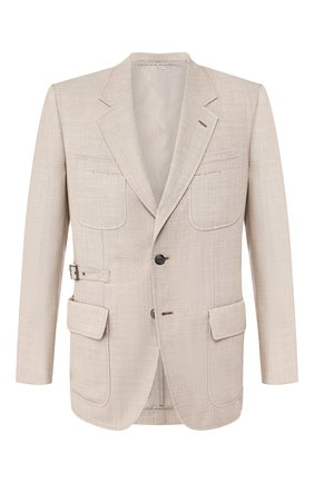 Мужской шерстяной пиджак BRIONI бежевого цвета, арт. RGEQ0M/P9A9C/N-TRAVEL | Фото 1
