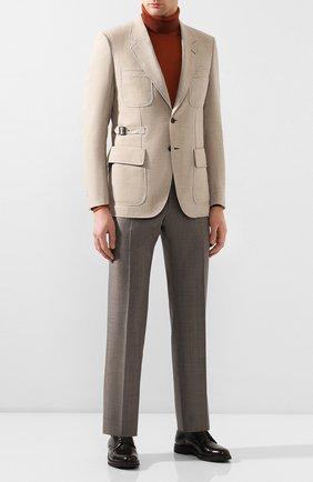 Мужской шерстяной пиджак BRIONI бежевого цвета, арт. RGEQ0M/P9A9C/N-TRAVEL | Фото 2