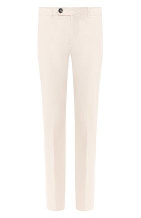 Мужские хлопковые брюки BRUNELLO CUCINELLI кремвого цвета, арт. M289LB1150 | Фото 1 (Материал внешний: Хлопок; Случай: Повседневный; Стили: Кэжуэл)