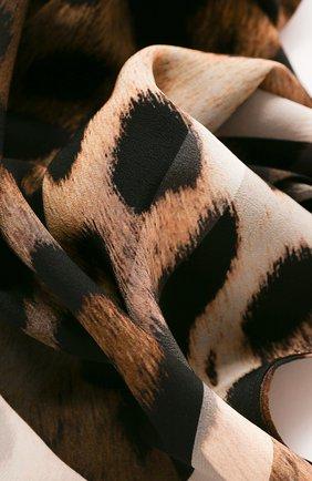 Женское шелковое парео SHAN леопардового цвета, арт. 42021-50 | Фото 2