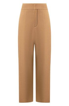 Женские шерстяные брюки CHLOÉ коричневого цвета, арт. CHC20SPA21060 | Фото 1
