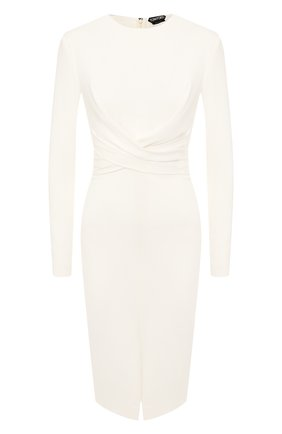 Женское шелковое платье TOM FORD белого цвета, арт. AB2767-FAX187 | Фото 1