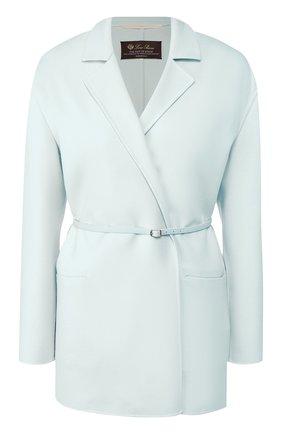 Женское шерстяное пальто LORO PIANA голубого цвета, арт. FAL0839 | Фото 1