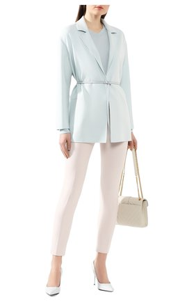 Женское шерстяное пальто LORO PIANA голубого цвета, арт. FAL0839 | Фото 2