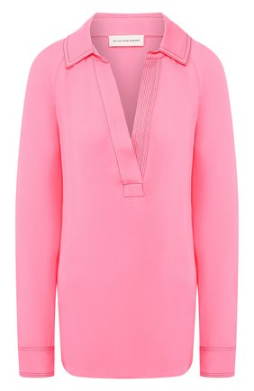 Женская блузка из вискозы BY MALENE BIRGER розового цвета, арт. Q67957001/0LIVIAA   Фото 1