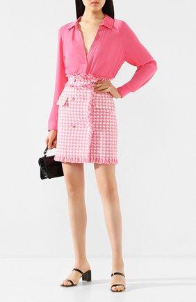 Женская блузка из вискозы BY MALENE BIRGER розового цвета, арт. Q67957001/0LIVIAA   Фото 2