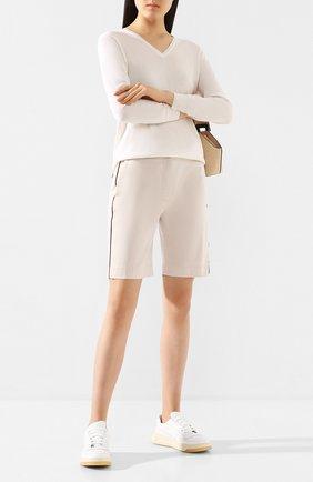 Женские хлопковые шорты ELEVENTY бежевого цвета, арт. A80PANA11 TES0A168 | Фото 2
