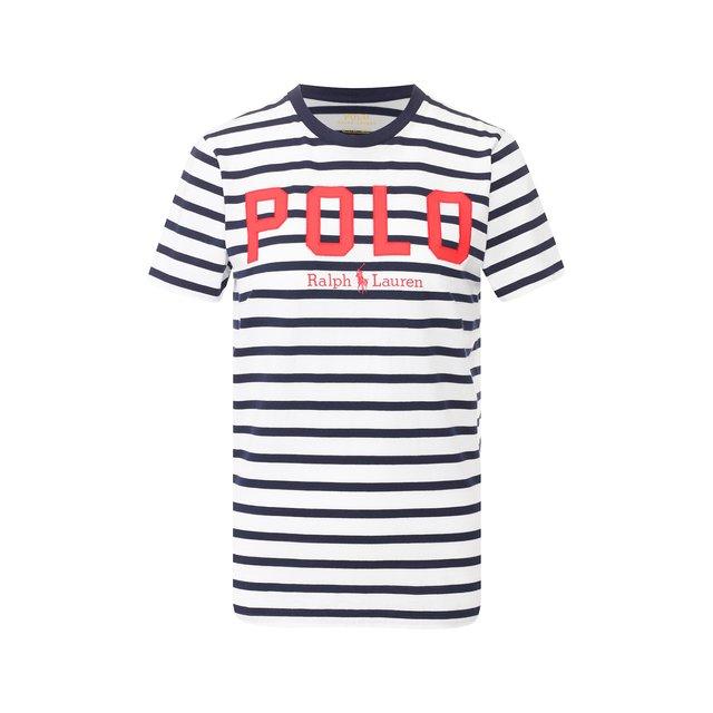 Хлопковая футболка Polo Ralph Lauren — Хлопковая футболка
