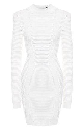 Женское платье BALMAIN белого цвета, арт. TF16231/K017   Фото 1