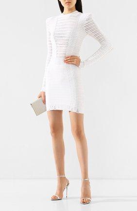 Женское платье BALMAIN белого цвета, арт. TF16231/K017   Фото 2