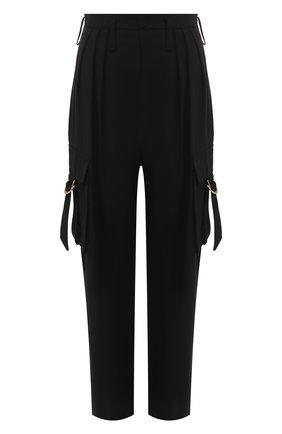 Женские брюки из смеси вискозы и шерсти BALMAIN черного цвета, арт. TF15237/V093 | Фото 1