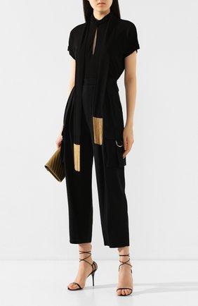 Женские брюки из смеси вискозы и шерсти BALMAIN черного цвета, арт. TF15237/V093 | Фото 2