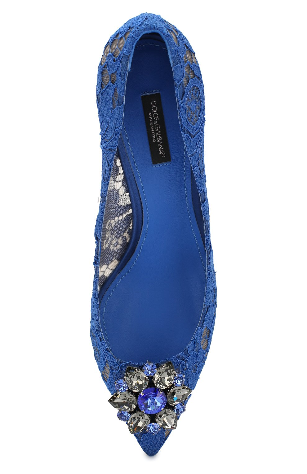 Женские текстильные туфли rainbow lace DOLCE & GABBANA синего цвета, арт. 0112/CD0066/AL198   Фото 5