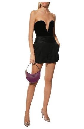 Женская текстильные туфли rainbow lace DOLCE & GABBANA розового цвета, арт. CD0101/AL198 | Фото 2