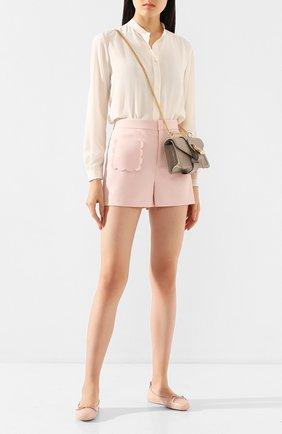 Женские кожаные мокасины TOD'S светло-розового цвета, арт. XXW00G00010WEN | Фото 2