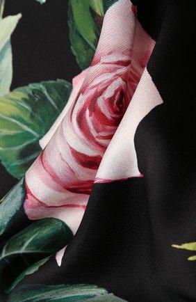 Женский шелковый платок DOLCE & GABBANA черного цвета, арт. FN090R/GDS16   Фото 2
