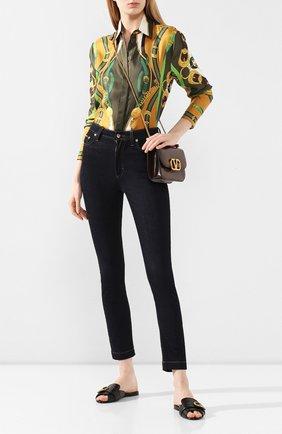 Женские кожаные шлепанцы bianca DOLCE & GABBANA черного цвета, арт. CQ0324/AX191   Фото 2