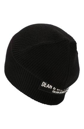 Мужская шерстяная шапка DSQUARED2 черного цвета, арт. KNM0001 01W02846 | Фото 2
