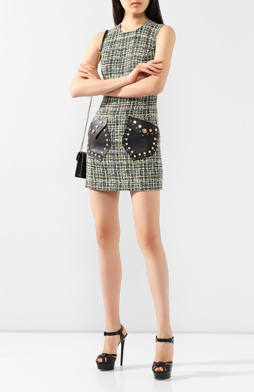 Женские кожаные босоножки CASADEI черного цвета, арт. 1L676K1401FL0RE9000 | Фото 2
