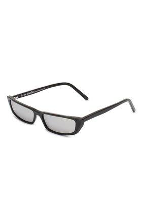 Мужские солнцезащитные очки ACNE STUDIOS черного цвета, арт. C30012/W | Фото 1