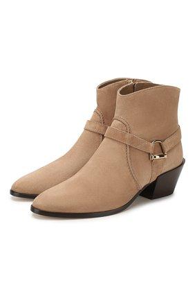 Женские замшевые ботинки TOD'S бежевого цвета, арт. XXW94A0CV10BYE | Фото 1