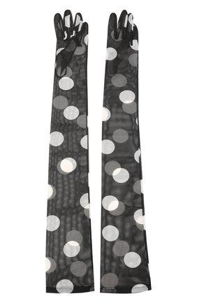 Женские перчатки DRIES VAN NOTEN черно-белого цвета, арт. 201-30101-780 | Фото 2