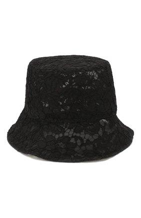 Женская текстильная панама valentino garavani VALENTINO черного цвета, арт. TW2HGA34/KBP   Фото 1