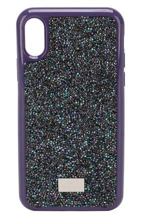 Мужской чехол для iphone x/xs SWAROVSKI фиолетового цвета, арт. 5449517 | Фото 1