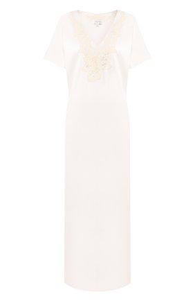 Женская шелковая сорочка MARJOLAINE бежевого цвета, арт. 4IVO3001_0074   Фото 1
