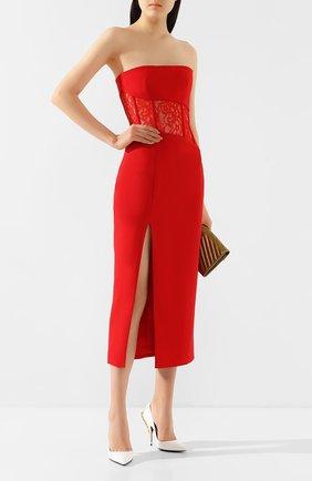 Женское платье-миди RASARIO красного цвета, арт. 0017S20_4 | Фото 2