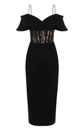 Женское платье-миди RASARIO черного цвета, арт. 0025S20_1 | Фото 1